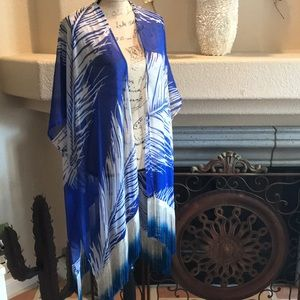 Beach Cover-up with Ombré Fringe NWOT💐OSFM